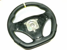 Bmw 1er 3er aplanada performance style volante carbon cuero Steering Wheel