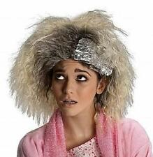 Blonde Crimped Hair Dye Job Adult Wig with Tin Foil