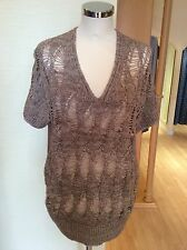 Olsen Top Size14 Bnwt Brown V Neck Rrp £89 Now £29