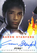 X MEN X2 MOVIE AUTOGRAPH CARD AARON STANFORD AS PYRO