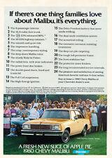 1980 Chevrolet Malibu Classic - Original Car Advertisement Print Ad J171