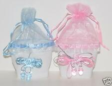 12 pc lot BABY SHOWER FAVORS GIFTS PARTY FAVORS MINI TOTE W/PACIFIERS RECUERDOS