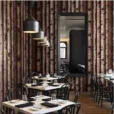 WALLPAPER Realistic Wood Optic TREE BARK WOOD PANELS NATURE Dark Shop Cafe