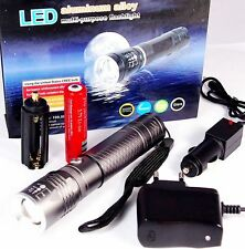 500 lúmenes del CREE LED linterna luz UV zoom de iones de litio Batería LED-made in USA