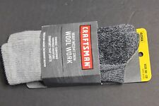 1 PAIRS MEN'S CRAFTSMAN WORK weight Socks SIZE 10-13 CREW SOFT Fit shoe 6-12