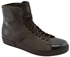 $595 CESARE PACIOTTI Brown Suede Leather Ankle Boots Sneakers Men Shoes 42.5 8.5