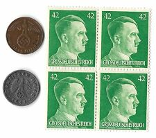 Rare Old Vintage WWII WW2 Nazi Germany Swastika Coin Hitler Stamp Collection Lot
