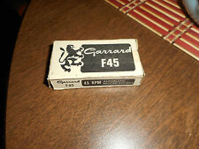 GARRARD F45 AUTOMATIC RECORD SPINDLE FOR 45 RPM RECORDS ORIGINAL BOX NEVER USED