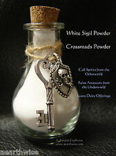 WHITE SIGIL POWDER, HECATE CHARMS & INFO SHEET Wicca Witch Spell Goth OFFERINGS