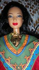 BARBIE DOLL MEXICAN BRUNETTE BLACK HAIR DOTW PRINCESS OF ANCIENT MEXICO 2004 LEA