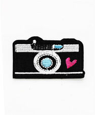Camera Dly Clothes pants hat Iron on Embroidered Badge Applique Patches U29