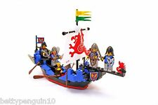 Lego 6057 Black Knights Castle Sea Serpent Ship, 5 Knight Minifigures, Complete