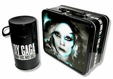 "LADY GAGA ""ADMAT"" TIN LUNCH BOX & THERMOS BORN THIS WAY 2013 CANCELED TOUR NEW"