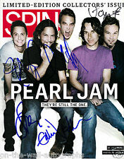 PEARL JAM HAND SIGNED AUTOGRAPHED RARE SPIN MAGAZINE BY ALL 5! W/ PROOF + C.O.A.