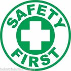 """SAFETY FIRST 2"""" Hard Hat Sticker OSHA Safety Committee Decal FREE SHIPPING!"""