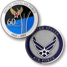 US Air Force 60th Anniversary Challenge Coin USAF 60 Years Insignia Army Corps