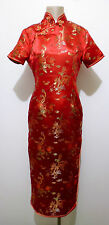 VINTAGE '80 Abito Vestito Donna Orientale Seta Orient Silk Woman Dress Sz.M - 44