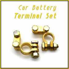 2 x 12V Car Battery Terminals Clamps Connectors Heavy Duty Brass Bolts + / - HQ