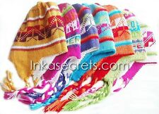 02 Children's Reversible Chullo Alpaca hat with Ethnic Designs