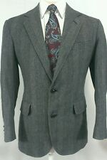 Pendleton Wool Sport Coat Gray/Blue Herringbone Men's 39L EUC Great Look!