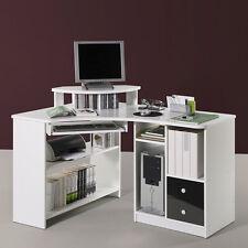 Eckschreibtisch Tanga in weiß Computer PC Schreibtisch Büro Jugendzimmer