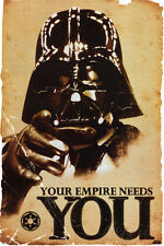 Star Wars Movie Darth Vader Your Empire Needs You Poster Print 24x36