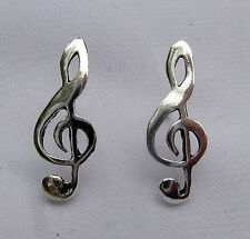 Pair Of Sterling Silver  925  Musical  Ear Studs  !!        Brand  New  !!