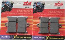 SBS 634 DS 2 Satz Bremsbeläge Sinter Yamaha R6 vorn two set racing brake pads