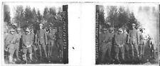 Officiers avant l'attaque front du Carso Italie c1917 14-18 Photo stéréoscopique
