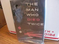 The Man Who Died Twice George Harmon Coxe vintage book with dust jacket