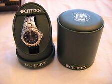 CITIZEN ECODRIVE Stainless Men's Skyhawk Watch WR200 Perpetual Calendar Orig Box
