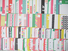 Confetti *NEW Edition Higgins 50 x Project Life Cards Set 4x6 & 3x4 Journaling