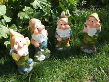 LATEX MOULD MOULDS MOLD.     4 PIECE X  13 INCH GARDEN GNOME SET. (2017)