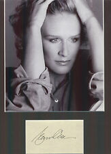"GLENN CLOSE ""FATAL ATTRACTION"" LOVELY AUTHENTIC SIGNED AUTOGRAPH DISPLAY UACC"