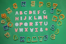 27 Plastic Letters, Alphabet Cutters, Sugarcraft, Cake Decorating, Baking