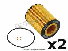BMW (96-07 6cyl) Engine Oil Filter Kit (2) HENGST NEW + 1 YEAR WARRANTY