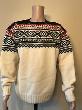Vintage Polo Ralph Lauren XXL Hand Knit Lambs Wool SWEATER Isle Nordic SKI XL