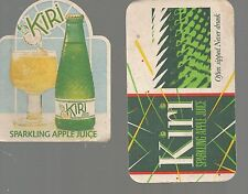 KIRI, SPARKLING APPLE JUICE :  2 x different  beer coasters  from the 70's (?).