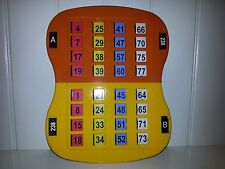 VINTAGE PLASTIC BINGO HALL CARD WITH SLIDERS DOUBLE CARD