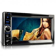 AUTORADIO MIT NAVIGATION GPS TOUCHSCREEN BILDSCHIRM BLUETOOTH DVD CD DOPPEL 2DIN
