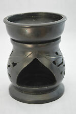 Vintage Chinese Black Warmer Stove Censer Incense Burner #G