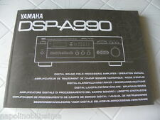 Yamaha DSP-A990 Owner's Manual  Operating Instruction   New