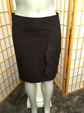 The Limited Brown Knee Length Ruffle Pencil Skirt Womens Size 4
