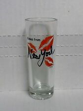 New York, Kisses From New York, Mary Ellis, Shooter Style Shot Glass, Clear, NEW