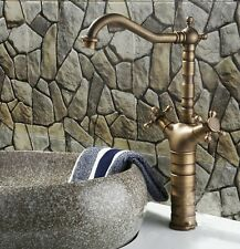 Antique Brass Finished Bathroom & Kitchen Basin Mixer Tap Sink Faucet PKIII