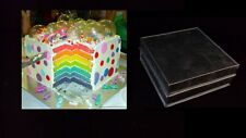 Rainbow Layer Cake Baking Tins - 2 Tins -Square 8""
