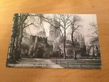 Old Black & White Photo Postcard - Canterbury Cathedral #6