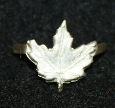 Original WWII Silver CVSM Maple Leaf Device (Cdn Volunteer Service Medal)