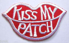 Kiss My Patch Iron on Sew on Embroidered Patch Jacket Bag Fancy Dress