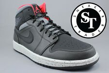 AIR JORDAN 1 ONE MID 811124-035 HOLIDAY BLACK DARK GREY INFRARED 23 SIZE: 10